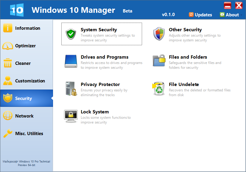 Windows 10 Manager 1.0.2