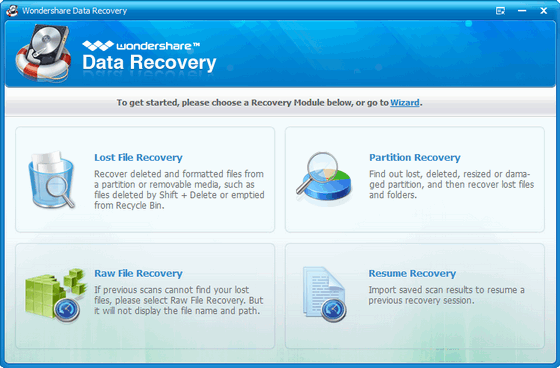Wondershare Data Recovery 4.0.1.5