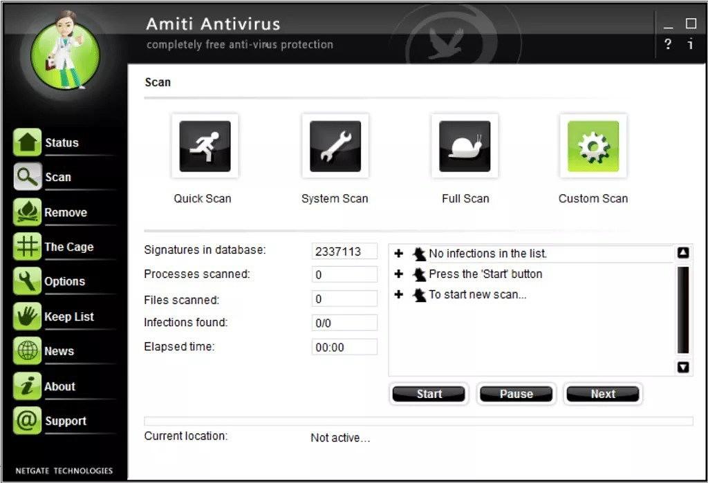 скачать NETGATE Amiti Antivirus 24.0.720.0