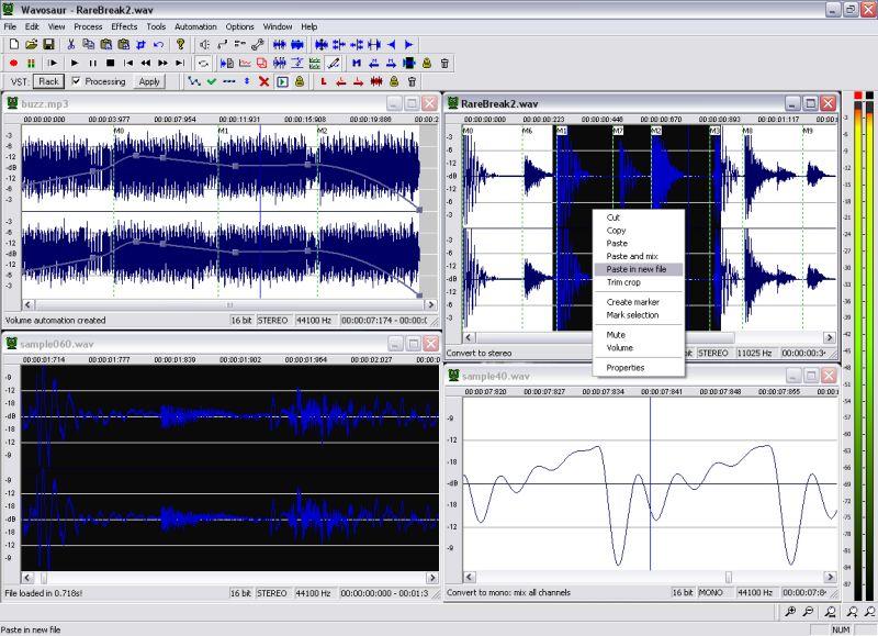 скачать Wavosaur 1.0.6.0 - звуковой редактор