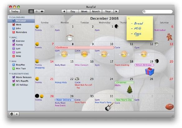 скачать BusyCal 1.5.1 для Mac OS X