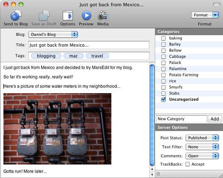 скачать MarsEdit 3.1.7 для Mac OS X