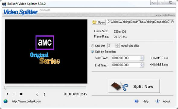Boilsoft Video Splitter 6.34.2 нарезка видео файлов