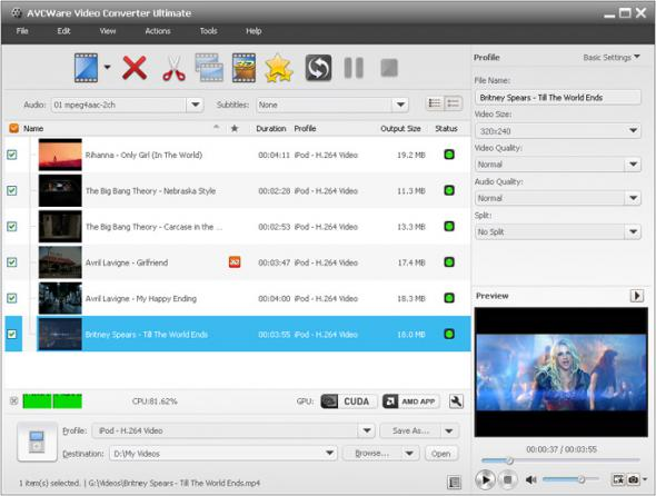 AVCWare Video Converter Ultimate 7.2.0.20120420