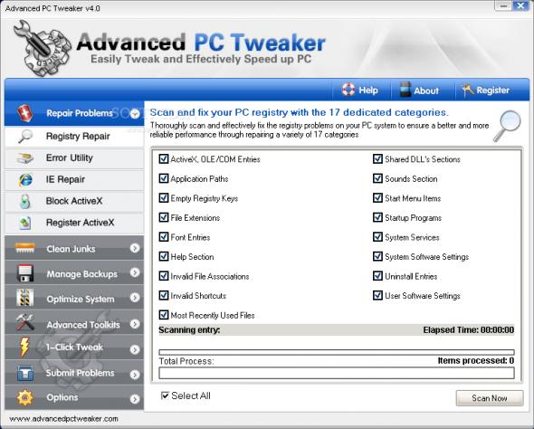 Advanced PC Tweaker 4.2 Datecode 05.06.2012 - настройка и оптимизация пк