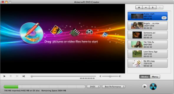 Aimersoft DVD Creator 3.6.2 для Mac OS X