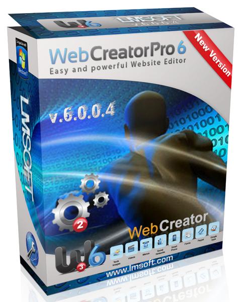 скачать LM Soft Web Creator Pro 6.0.0.4 - графические эффекты без какого-либо программирования