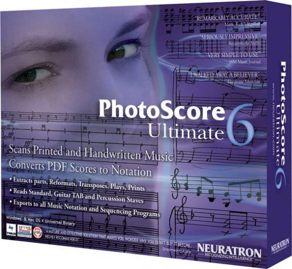 скачать Neuratron Photoscore Ultimate 6.1.0 + Rus - для считывания нотного материала, написанного от руки