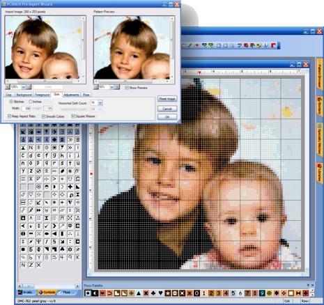 PCStitch 10.00.018 - для любителей вышивания, создавать выкройки