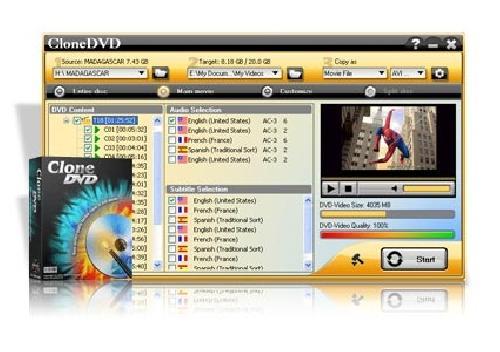 DVD X Studios CloneDVD 5.6.1.1 Portable - копирование и запись DVD фильмов