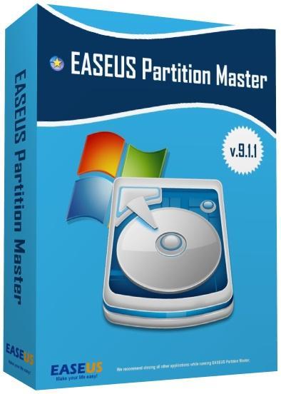 EaseUS Partition Master Professional 9.1.1 - для работы с разделами и дисками