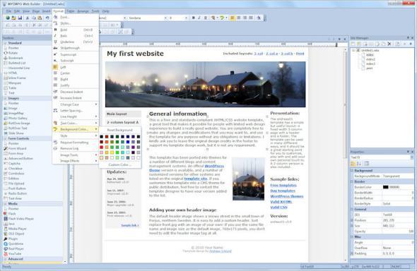 скачать WYSIWYG Web Builder 8.1.5 Eng / Rus - конструктор для создания сайтов