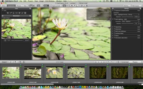 скачать DxO Optics Pro 7.2 для Mac OS X