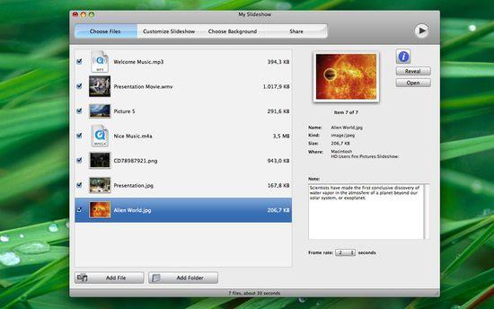 скачать Apimac Slideshow 9.7 для Mac OS X - мультимедийные презентации и слайд-шоу