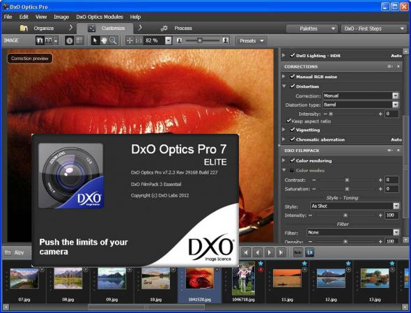 DxO Optics Pro 7.2.3 Revision 29168 Build 227 ML - RAW - конвертер