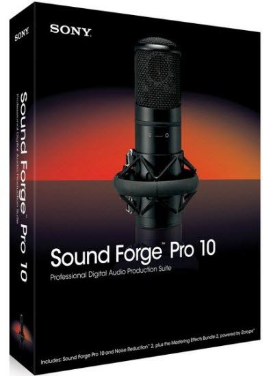 скачать Sony Sound Forge Pro 10.0d Build 503 RePack - аудио редактор