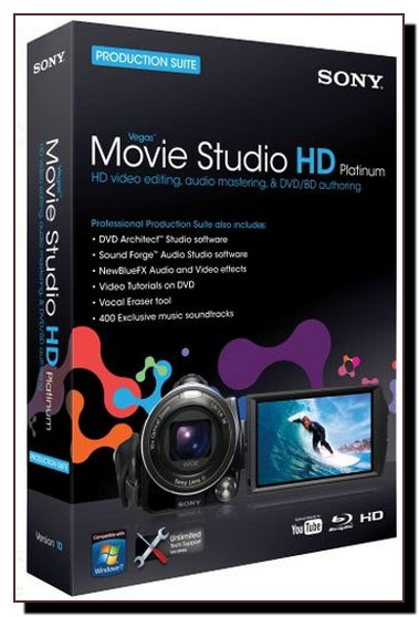 Vegas Movie Studio HD Platinum 11.0.322 Rus Portable