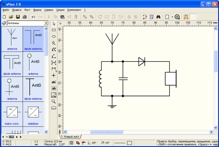 sPlan 7.0.0.9 Final Rus - рисуем электрические схемы